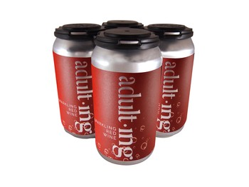 4-Pack Adulting Canned Red Wine