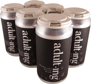 6-Pack Adulting Canned White Wine