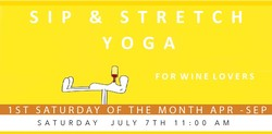 Sip & Stretch Yoga 07/07/18