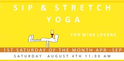 Sip & Stretch Yoga 08/04/18