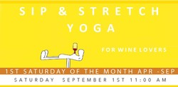 Sip & Stretch Yoga 09/01/18